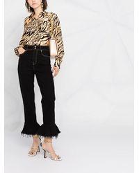 Versace Jeans Couture クロップド フレアジーンズ - ブラック