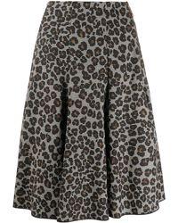 Versace Rock mit Leoparden-Print - Schwarz