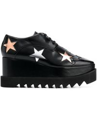 Stella McCartney Elyse Star Platform Shoes - Black