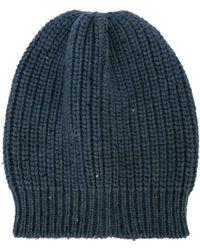 Brunello Cucinelli Knitted Beanie Hat - Gray