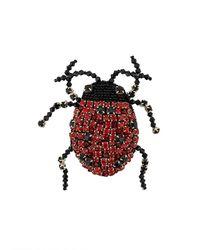 Rochas Broche Met Lieveheersbeestje - Rood