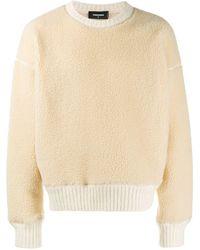 DSquared² Pullover aus Faux Fur - Natur
