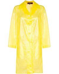 Sies Marjan Полупрозрачное Пальто С Тиснением Под Кожу Крокодила - Желтый