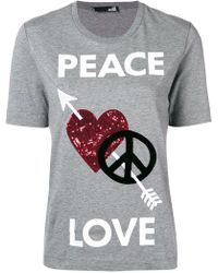 Love Moschino - Peace And Love T-shirt - Lyst