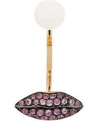 Delfina Delettrez - 18kt Champagne Gold Lips Piercing Earring - Lyst