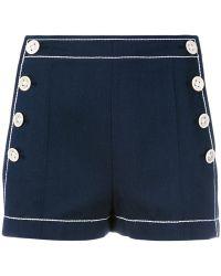 Agnona Side Button Shorts - Blue