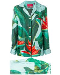 F.R.S For Restless Sleepers - Leaf Print Trouser Suit - Lyst