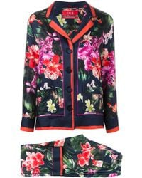 F.R.S For Restless Sleepers - Floral Print Trouser Suit - Lyst