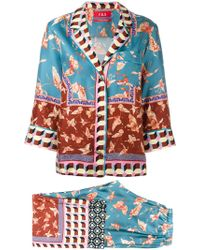 F.R.S For Restless Sleepers Butterfly Print Trouser Suit