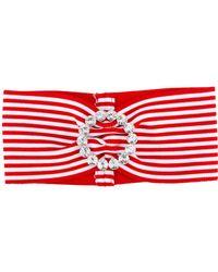 Alessandra Rich - Striped Headband - Lyst