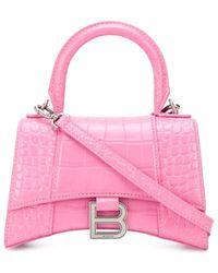 Balenciaga Hourglass XS Top Handle Bag - Pink