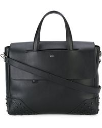 Tod's Fold-over Closure Briefcase - Black