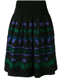 Issey Miyake Cauliflower - Embroidered Patch A-line Skirt - Lyst