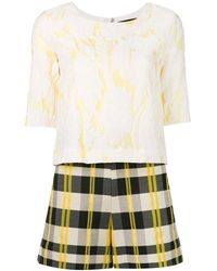 Christian Pellizzari - Checked Playsuit - Lyst