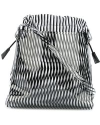 Pleats Please Issey Miyake - Geometric Pattern Shoulder Bag - Lyst