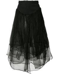 Marc Le Bihan - Distressed Tulle Skirt - Lyst