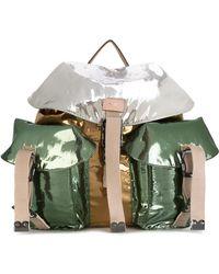 N°21 - Colour-block Metallic (grey) Backpack - Lyst