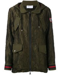 Isabelle Blanche Embroidered Parka - Green