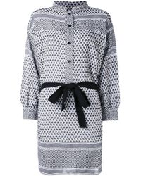 Rough Studios | Multi-pattern Belted Shirt Dress | Lyst