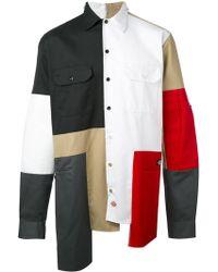 Liam Hodges - Asymmetric Colour Block Shirt - Lyst