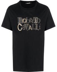 Roberto Cavalli - Футболка С Логотипом - Lyst