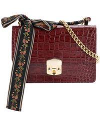 MUVEIL - Lace-up Detail Shoulder Bag - Lyst