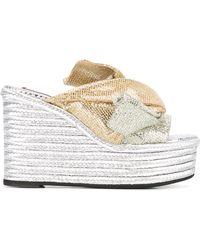 N°21 Platform Sandals - Metallic