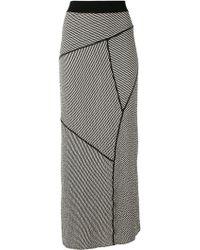 Alessandra Marchi Striped Maxi Skirt - Black