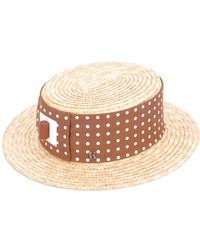 Kreisi Couture - Polka Dot Panel Hat - Lyst