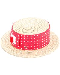 Kreisi Couture - Polka Dot Panel Hat - Lyst
