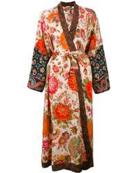 Anjuna Printed Silk Kimono - Multicolour