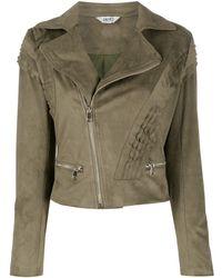 Liu Jo Ruched Biker Jacket - Green