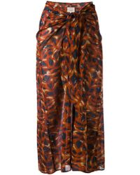 Diega - Draped Midi Skirt - Lyst