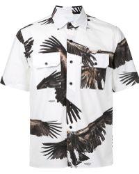 Yoshio Kubo - Eagle Print Short Sleeve Shirt - Lyst