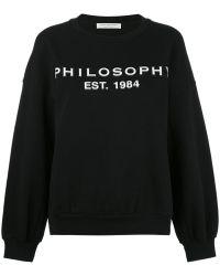 Philosophy Di Lorenzo Serafini Logo Print Sweatshirt - Black