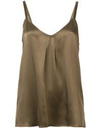 Vince - Sleeveless Silk Top - Lyst
