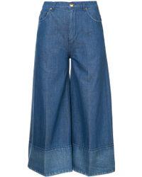 Co. Wide Leg Cropped Jeans - Blue