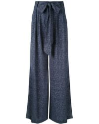 MILLY - Denim Trousers - Lyst