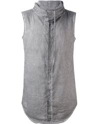 Unconditional - Sleeveless Funnel Neck Shirt - Lyst