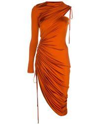 Monse ワンショルダードレス - オレンジ