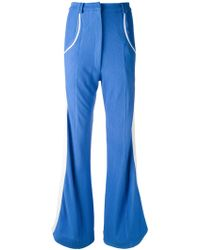 Richard Malone - Ribbed Flared Trousers - Lyst