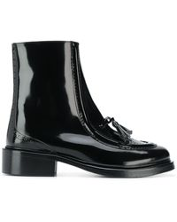 Nicole Saldaña Tassel-detail Boots - Black