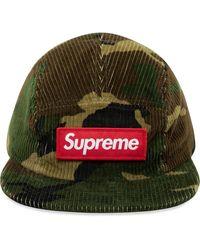 Supreme Gorra de pana con motivo militar - Verde