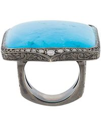 Loree Rodkin - Turquoise & Diamond Ring - Lyst