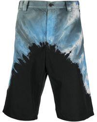Mauna Kea Abstract-print Knee Shorts - Blue