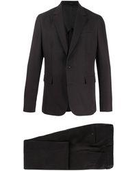 Paul Smith Slim-fit Linen Two-piece Suit - Black