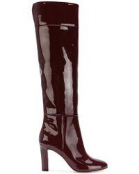 Agnona Patent Boots - Purple