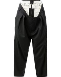 Moohong - Attached Layered Waist Trousers - Lyst