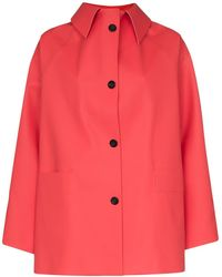 Kassl Button-down Rubber Coat - Red