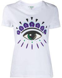 KENZO Eye-print Cotton T-shirt - White